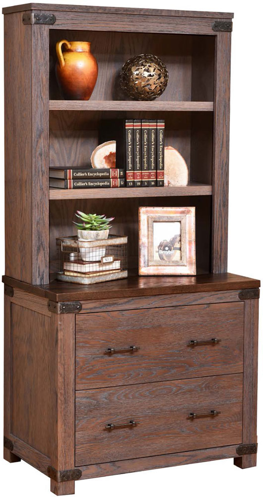Georgetown Series Lateral File and Bookshelf Hutch