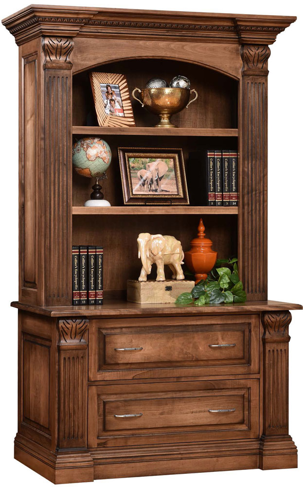 Montereau Series Lateral File And Bookshelf Hutch Sold Separately Shown In Brown Maple W