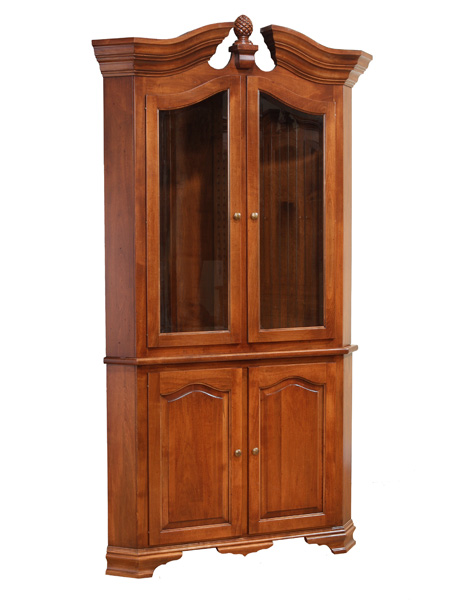European Country Style Two Door Corner China Hutch Ohio