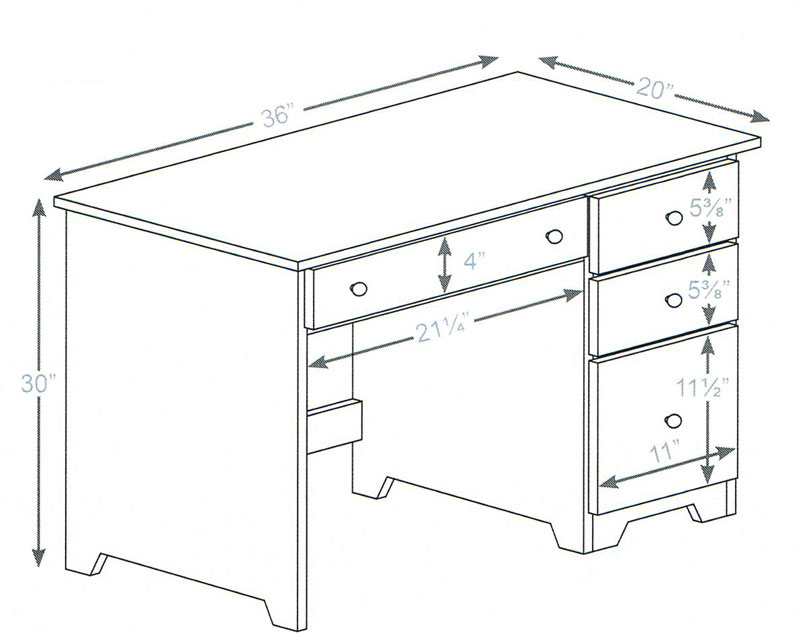 Office Desk Dimensions Home Design