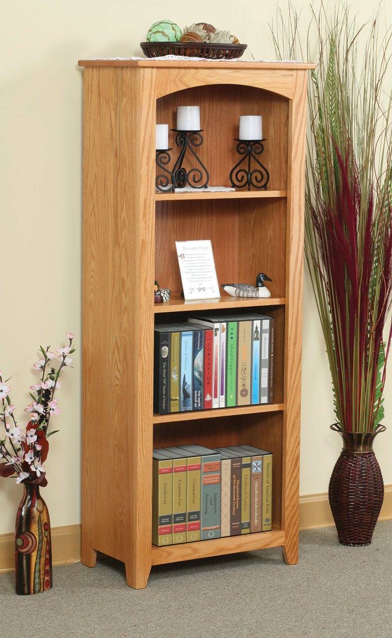 "Economy 60""H Bookcase in Oak with OCS 101 Stain"