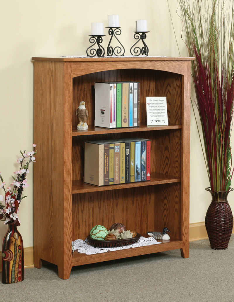 "Economy 48""H Wide Bookcase in Oak with OCS 102 Stain"