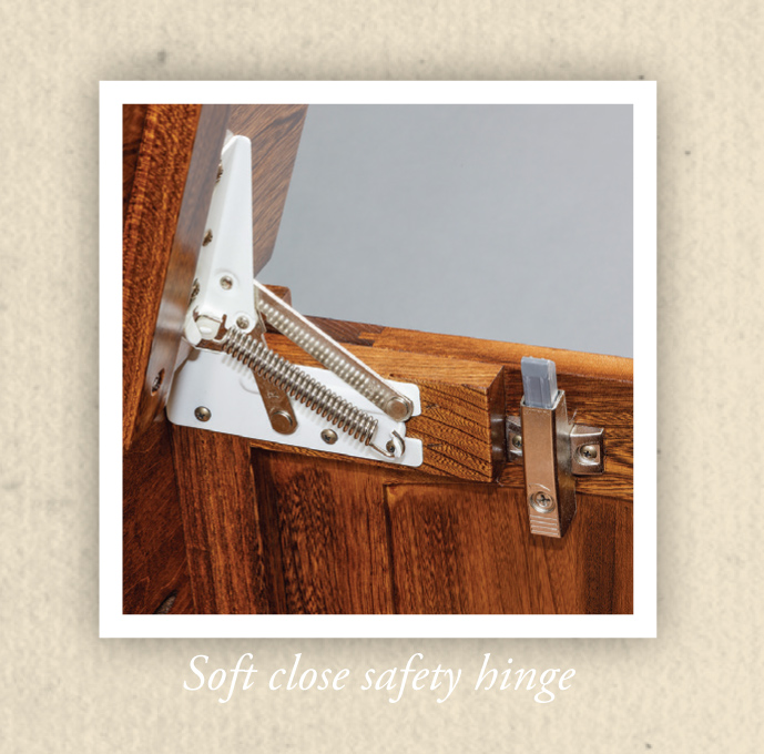 Blanket Chest Soft-Close Safety Hinge