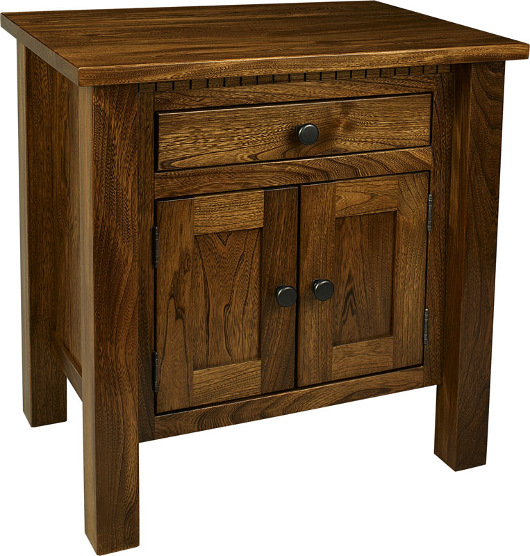 Lindholt 1-Drawer, 2-Door Nightstand