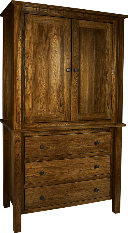 Lindholt 2-Piece Armoire in Elm with Specialty Finish
