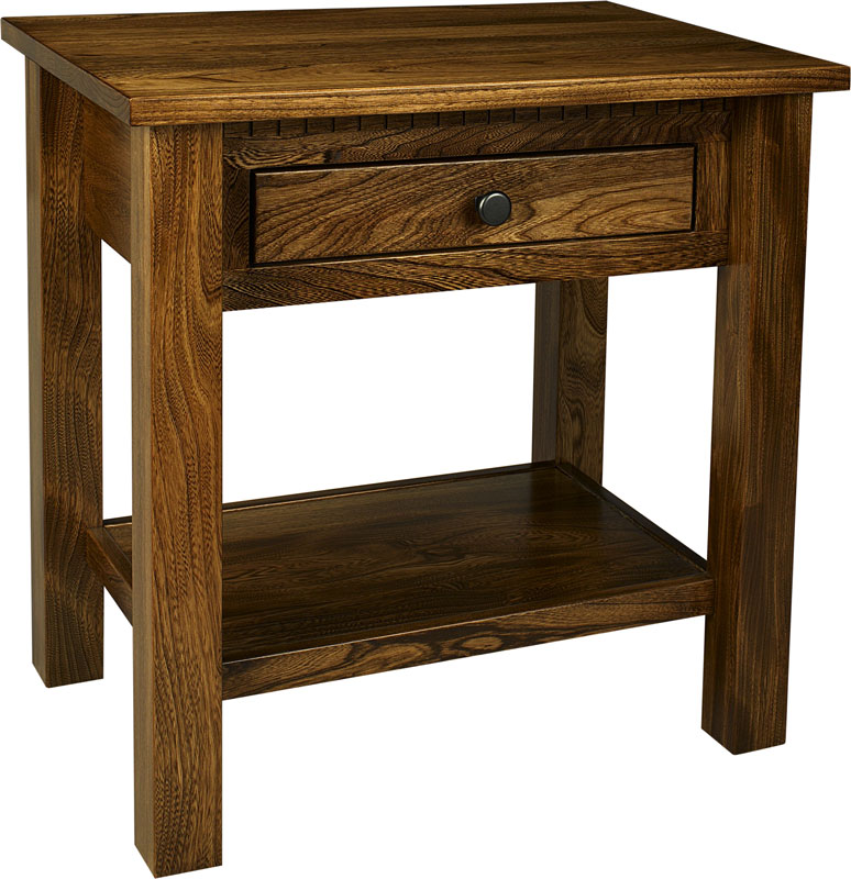 Lindholt 1-Drawer Nightstand with Shelf