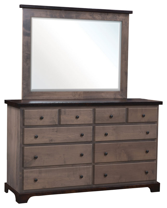Manchester High Dresser and Large Beveled Mirror
