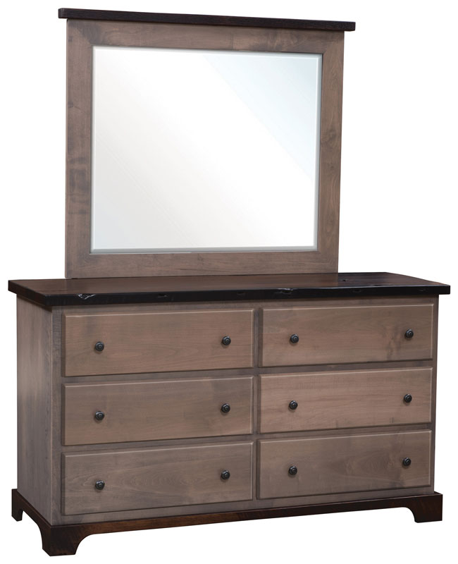 Manchester Standard Dresser and Medium Beveled Mirror