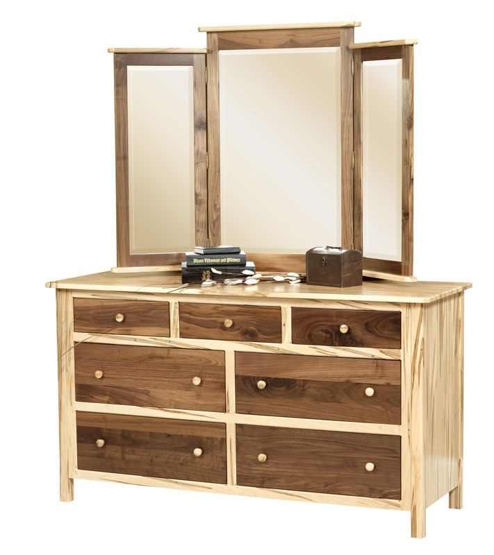 Cornwell Tri-View Mirror with the Cornwell Standard Dresser