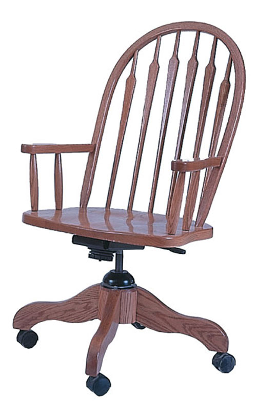 Heirwood Arrow Back Desk Chair In Solid Hardwood Ohio