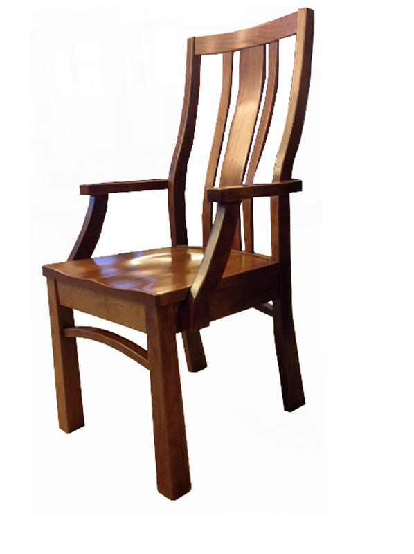 Alexander Wide Slat Arm Chair