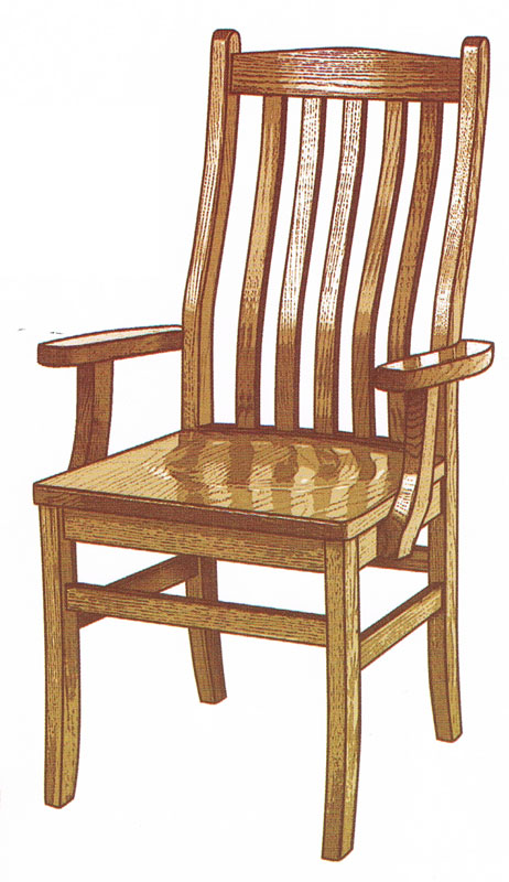 Lincoln arm chair ohio hardwood furniture