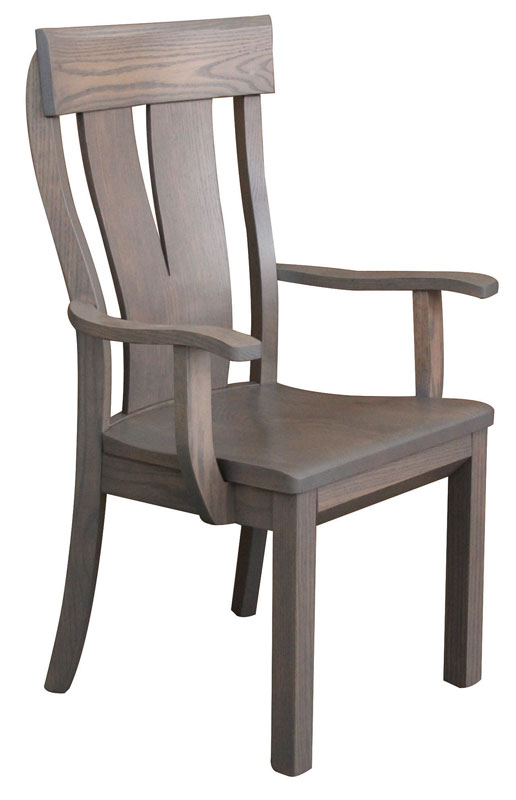 Merveilleux McKay Arm Chair With Wood Seat