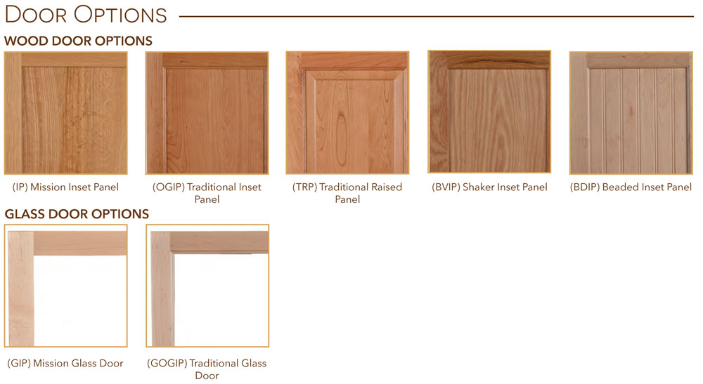 Bookcases Door Options
