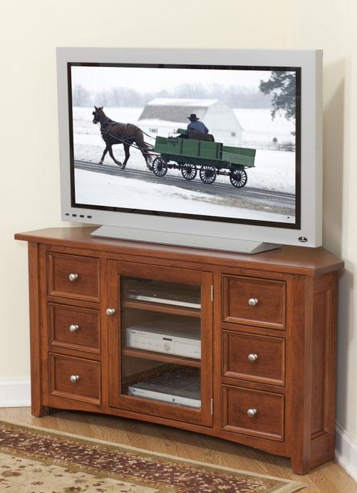 Beau Garnet Hill Corner TV Stand (48 902 6D DR) In Cherry
