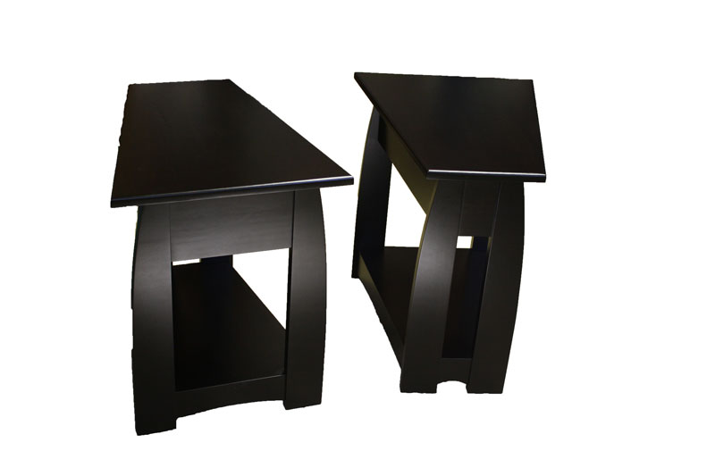 Sonoma Wedge End Tables In Brown Maple With An Ebony Stain (standard Size)