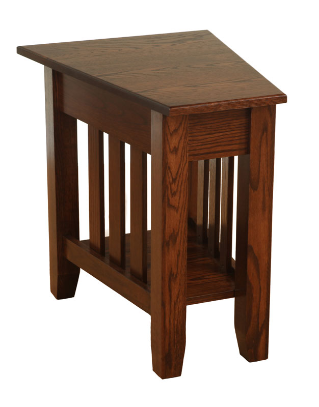 Delicieux Mission Wedge End Table With 1/4 Round Rout