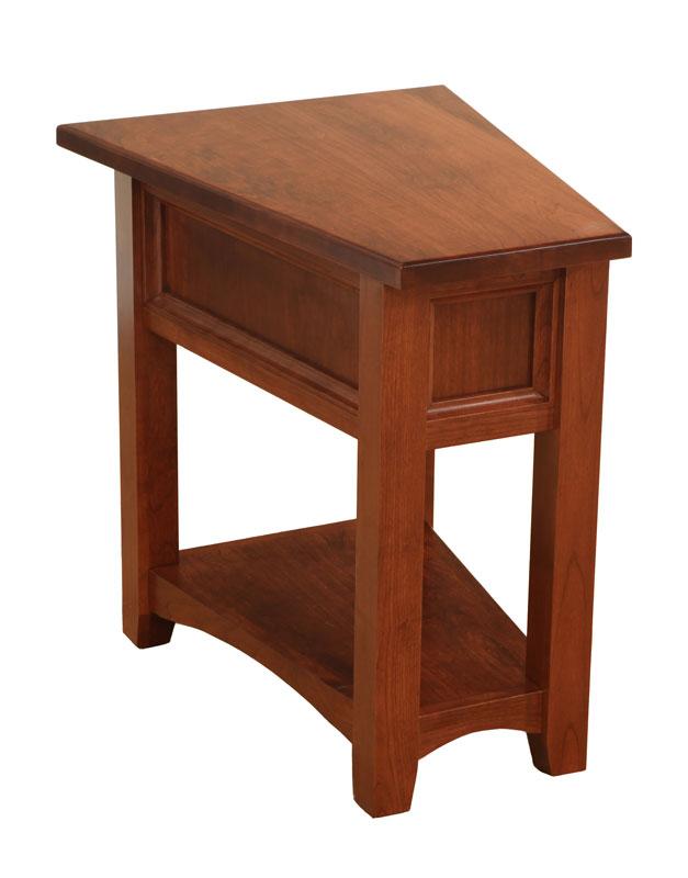 Open Garnet Hill Wedge End Table Ohio Hardword