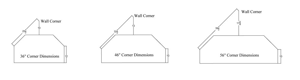 Wall Space Dimensions for Corner TV Stands
