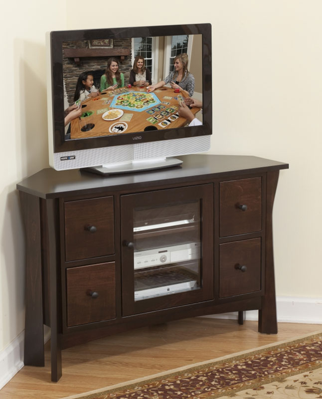Westfield Corner Tv Stand 32 902 4d Dr In Brown Maple