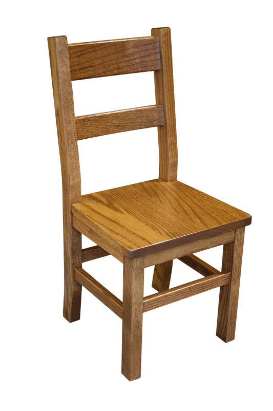 "12"" Children's Chair in Red Oak with an OCS-104 Seely Stain"
