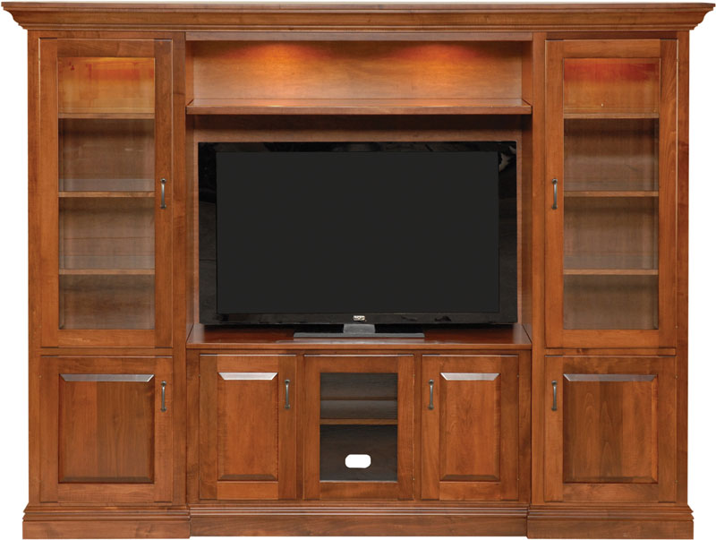 5200 Wall Unit Entertainment Center In Brown Maple With An OCS Boston Stain