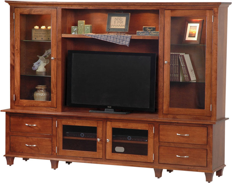 Bourten Hutch Wall Unit Entertainment Center