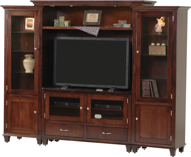Bourten Bridge Wall Unit Entertainment Center