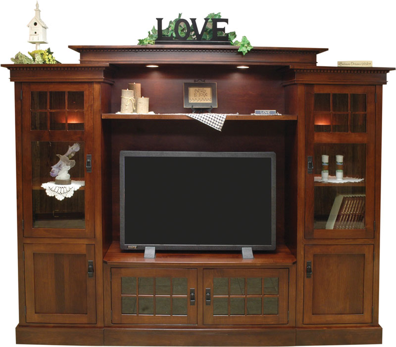 Rockford Bridge Wall Unit Entertainment Center