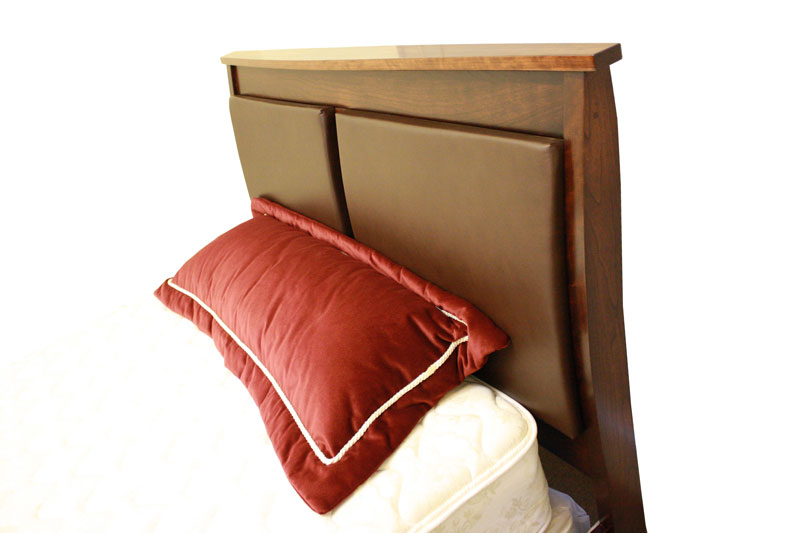 Arch Headboard with Leather Inserts