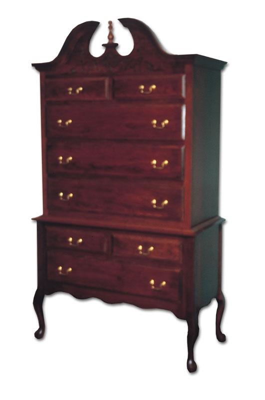 Queen Anne Highboy Ohio Hardwood Amp Upholstered Furniture