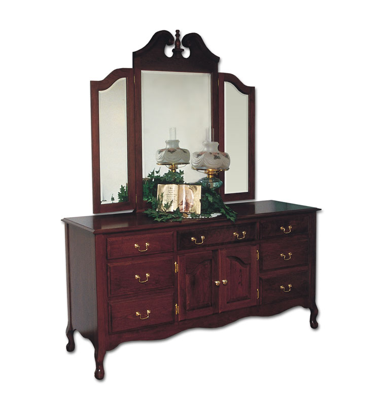 Queen Anne Master Dresser Ohio Hardwood Upholstered Furniture