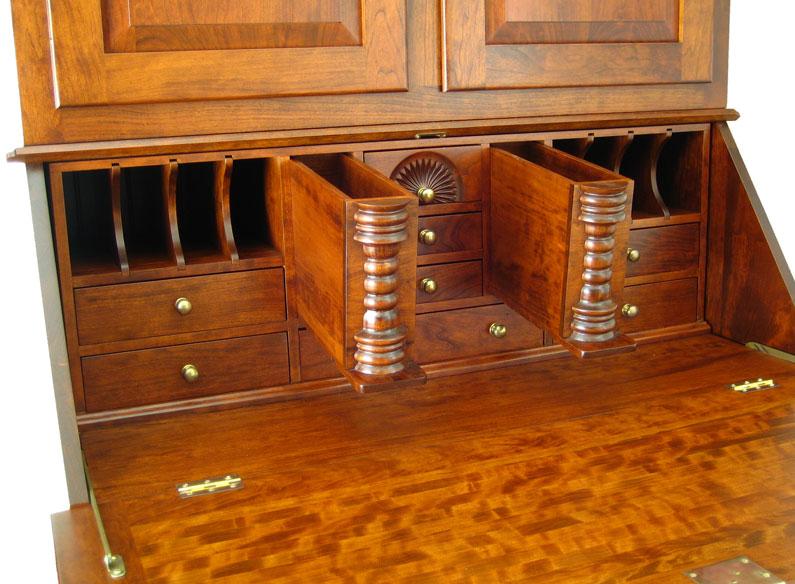 Waterbury Vintage Secretary Desk - Waterbury Vintage Secretary Desk - Ohio Hardwood Furniture