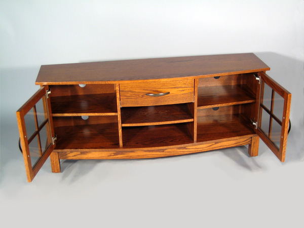 "Arch Front 60"" TV Stand - Doors Open"