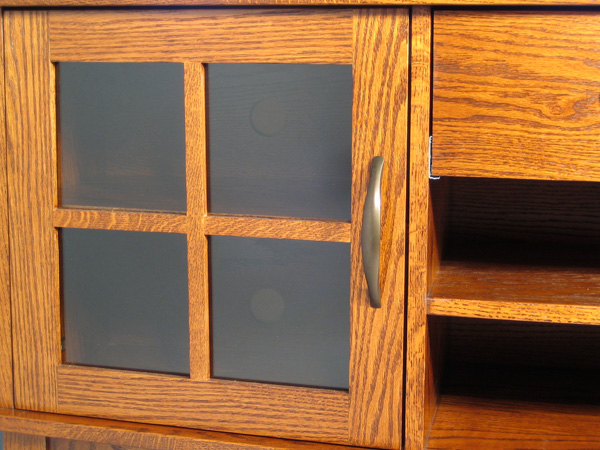 "Arch Front 60"" TV Stand - Door Detail"