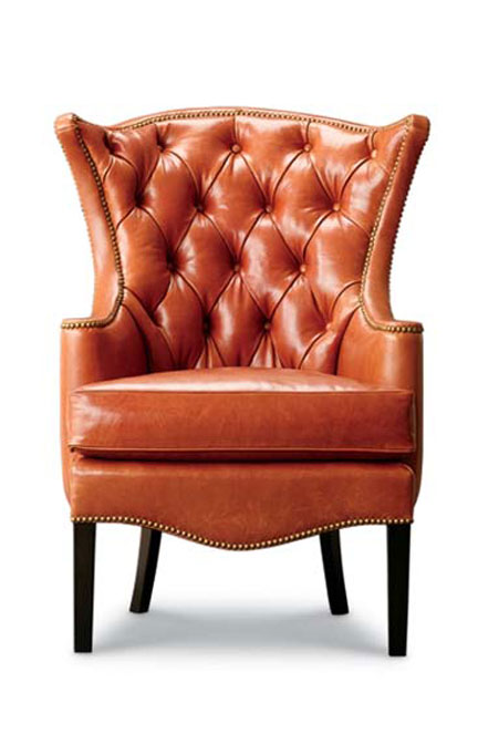 Leathercraft 1231-18 Tufted Wing Chair