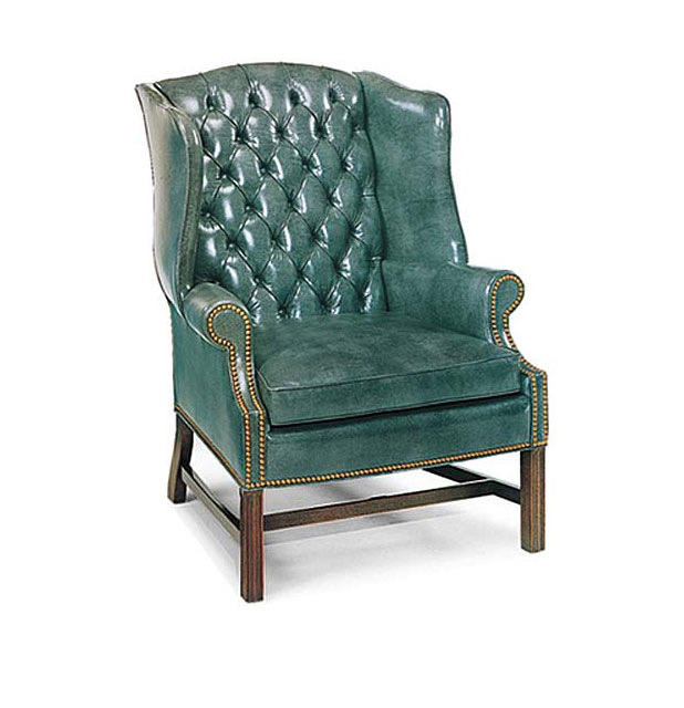 Leathercraft 1241-18 Alistair Tufted Back Wing Chair