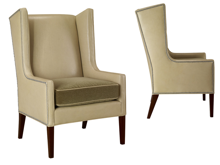 Leathercraft 1261-17 Wing Chair
