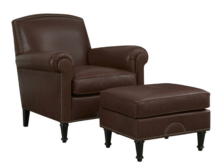 Leathercraft 1762 Chair and 1763 Ottoman