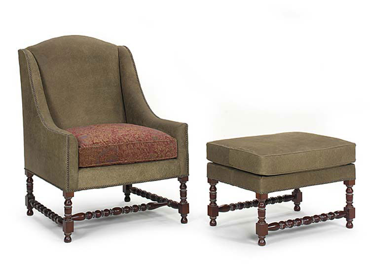 Leathercraft 2102 Chair and 2103 Ottoman