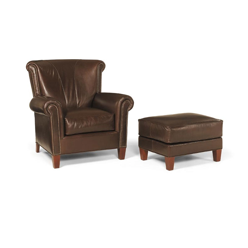 Leathercraft 2142 Gillham Chair and 2143 Gillham Ottoman