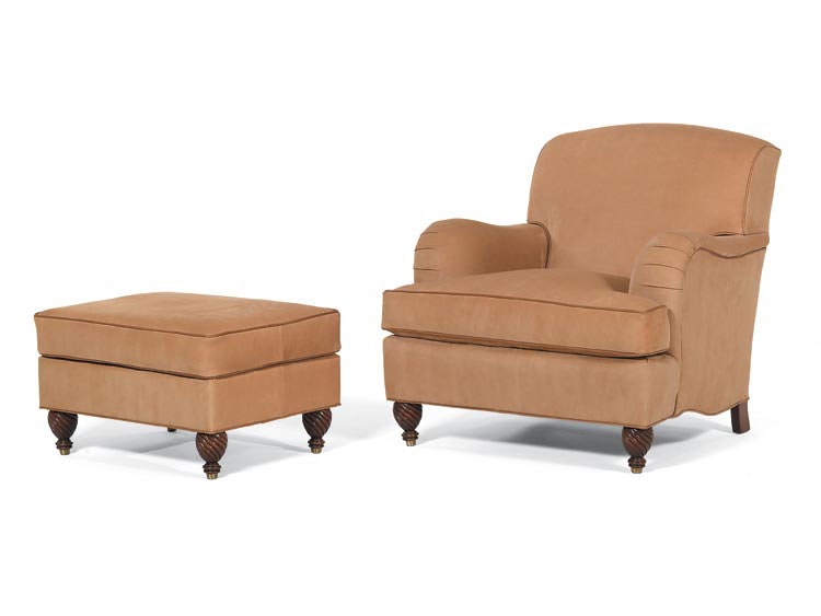 Leathercraft 2382 Pearce Chair and 2383 Pearce Ottoman