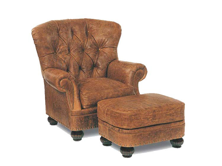 Leathercraft 2402 Tufted Chair and 2403 Ottoman