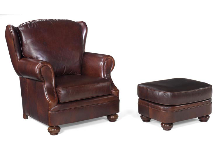 Leathercraft 2412 Nash Chair and 2413 Nash Ottoman