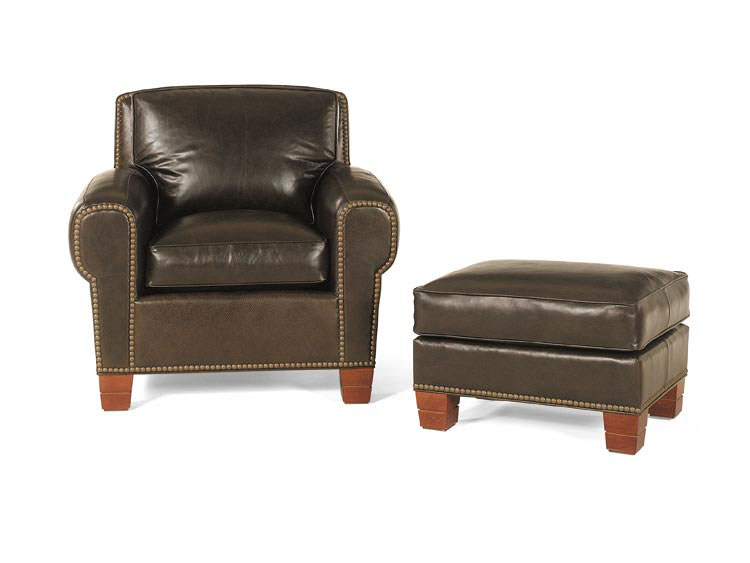 Leathercraft 2532 Chair and 2533 Ottoman