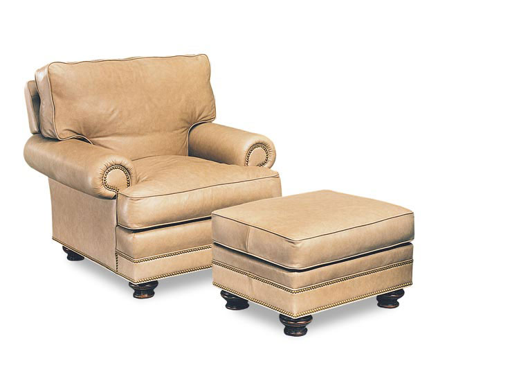 Leathercraft 2562 Garland Chair and 2563 Garland Ottoman
