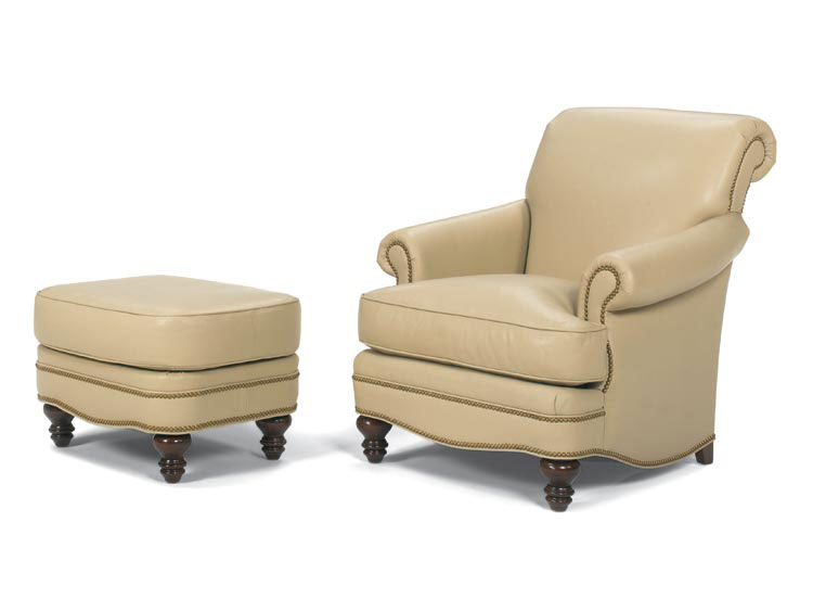 Leathercraft 2572 St. Thomas Chair And 2573 St. Thomas Ottoman (sold  Separately)