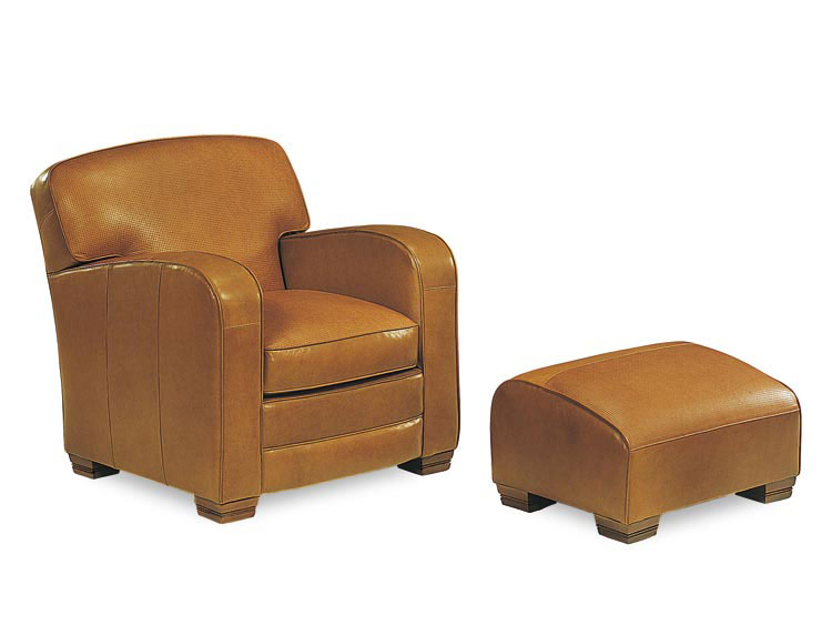Leathercraft 2952 Townhouse Chair and 2953 Townhouse Ottoman