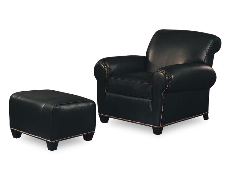 Leathercraft 2972 Maxwell Chair and 2973 Maxwell Ottoman