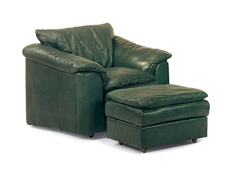 Leathercraft 3332 Logan Chair and 3333 Logan Ottoman